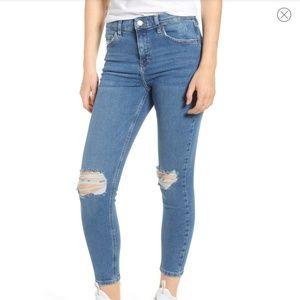 Topshop Jaime high waisted Moto jeans